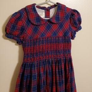 Vintage   Smocked Holiday Dress